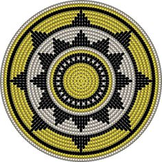 """The location where building and construction meets style, beaded crochet is the act of using beads to decorate crocheted products. """"Crochet"""" is derived fro Tapestry Crochet Patterns, Crochet Motifs, Crochet Stitches Patterns, Crochet Chart, Bead Crochet, Stitch Patterns, Crochet Gratis, Free Crochet, Sac Granny Square"""