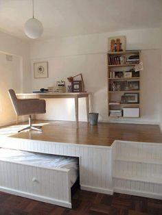 IDEAS PARA AHORRAR ESPACIO EN TU DORMITORIO by artesydisenos.blogspot.com