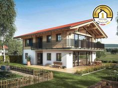 Design Regnauer Musterhaus Liesl Article Physique: Are you prepared for the summer time but? Rustic Houses Exterior, Construction, Sustainable Design, Model Homes, Log Homes, Dream Garden, Interior Design Living Room, My House, House Plans