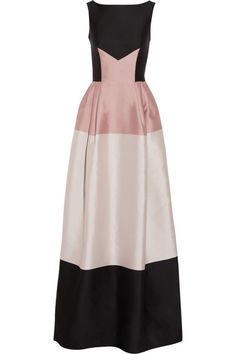 TEMPERLEY LONDON Long Freesia paneled satin-twill gown
