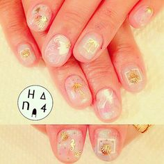 Elegant mermaid nails with foil shapes Nautical Nail Art, Mermaid Nails, Foil Nails, Nailart, How To Draw Hands, Shapes, Tattoos, Instagram Posts, Beauty