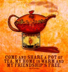 A different kind of festiviTEA. A warm quote with a hot pot of tea. Seasons Infusings to all. What my #Tea says to me December 8. Cheers :) What my Tea says to me is a daily, illustrated series created by Jennifer R. Cook