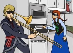 Funny Kristoff and Anna comic! Frozen Memes, Disney And Dreamworks, Disney Frozen, Wonders Of The World, I Laughed, Comics, Anime, Fictional Characters, Mouse Ears