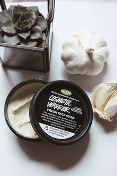 Troubled Skin: My Favourite Face Masks From Lush ~ dontbearunaway, face mask, garlic face mask, lush, cosmetic warrior