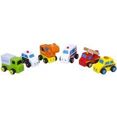 6 små biler