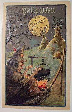 Vintage Halloween Postcard L & E | Flickr - Photo Sharing!