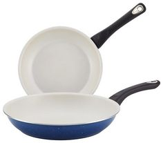 Farberware - New Traditions 2-Piece Skillet Set - Blue/White, 16276