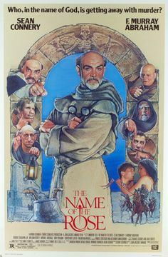 """""""The Name of the Rose"""" in 1986 directed by Jean-Jaques Annaud (Essonne - 1943). Based on the book of the same name by Umberto Eco. Sean Connery is the Franciscan friar William of Baskerville and Christian Slater is his apprentice Adso of Melk, who are called upon to solve a deadly mystery in a medieval abbey. The film was awarded the César for best foreign film."""
