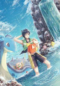 Sun e pokemon Lapras Pokemon, Fan Art Pokemon, Pokemon Alola, Type Pokemon, Pokemon Comics, Pikachu, Pokemon Images, Pokemon Pictures, Pokemon Fusion