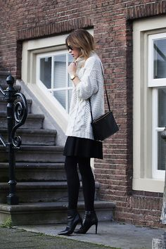 Céline Large Trio Bag, Zara Skirt, Joseph Shoes