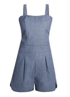 4e30dfb80f Macaquinho Jeans Azul de Alças - Posthaus Roupas Jeans