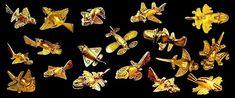 """Der Originalpost: """"Museo de Oro Bogota gold """"airplane"""" relics""""  Ich denke es könnten auch Insekten und Vögel sein, von einem damaligen Künstler verfremdet. Aber egal wie: wunder schön!"""