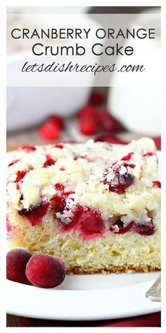 Cranberry Orange Crumb Cake Recipe | Perfect for a holiday breakfast or brunch!
