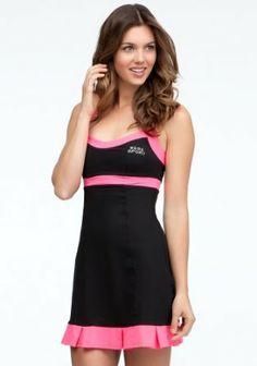 bebe Colorblock Tennis Dress -Bebe Sport Online Exclusive Bebesport Black/pink Splash-xs bebe. $74.00