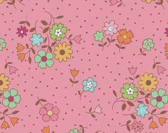 Pink Floral Quilt Fabric, Flower Patch Fabric, Riley Blake C4093 Pink, Lori  Holt Fabric, Bee in My Bonnet, Pink Floral Cotton Fabric