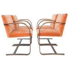 Rare Bronze Brno Chairs by Mies Van Der Rohe $12,000
