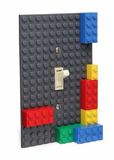 Lego Build-On Brick Light Switch Plate - Unique Gifts Ideas