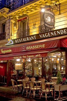 Magical Paris at Night.   Ate here late one night, and it hit the spot. It was great spot to enjoy Paris at night.