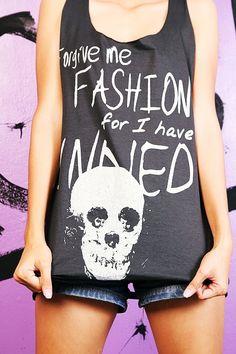 Skull Fashion Sexy Cut Slashed The Back by SoYouThinkYouCanRock, $16.99