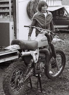 Bruce Jenner -- Jim Weinert did surprisingly well in the ABC TV sports Superstars competition and became buds with Olympic star Bruce Jenner. Jenner was there for support helping out in the Kawasaki pits. This is a1978 Kawasaki Works Bike.