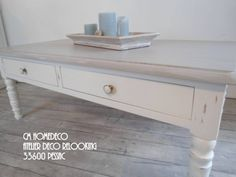 "table basse ""Provence"" patinée relooking cm homedeco par cm homedeco | homify"