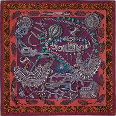 Seidentuch 90 x 90 cm Hermès | Zénobie