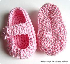 "Scarpine crochet: ""Little Star"" su modello Mary Jane"