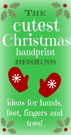 Lots of super cute handprint crafts - Father Christmas, snowmen, reindeer, angels...love them!