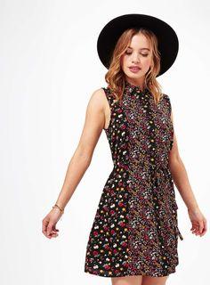 Petites Ditsy Shirt Dress
