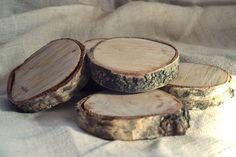 Drewniane podkładki pod kubki - art-kredka - Podkładki i serwetki