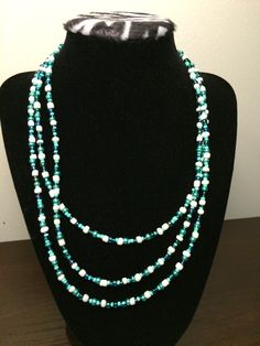 A personal favorite from my Etsy shop https://www.etsy.com/listing/236265273/multi-strand-turquoise-glass-beaded