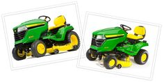 cool John Deere Equipment Comparison: X300 and X500 Riding Lawn Tractors