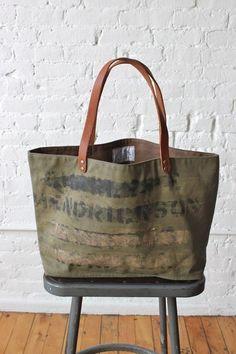 f3b7f6877637 WWII era Military Canvas Tote Bag Boho Bags
