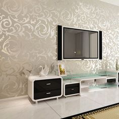 Mural wallpaper roll 3d wall panels T fashion brief bedroom tv living room background wall striped wall paper rolls-in Wall Stickers from Ho...
