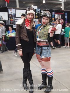 Jet Girl and Tank Girl by RohanElf.deviantart.com