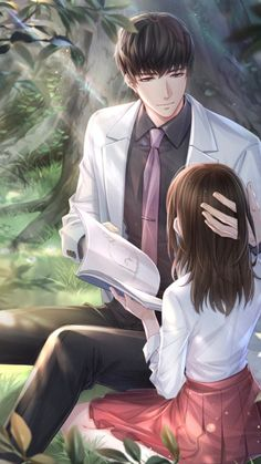 """""""I want everyone to meet you. You're my favorite person of all time."""" The best romance novels to read right now on Flying Lines ❤❤❤❤ Anime Cupples, Anime Kiss, Anime Couples Manga, Cute Couple Art, Anime Love Couple, Handsome Anime Guys, Cute Anime Guys, Anime Love Story, Desenhos Love"""