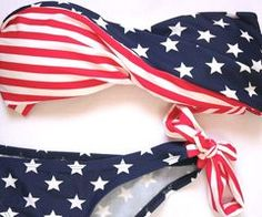 my mom used to buy us the american flag flipflops from old navy every year. i loved them!