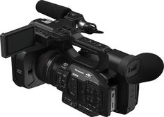 Above, back view of Panasonic Professional 4K Camcorder AG-UX180 (20x Optical Zoom, IR Shooting in Dark Places, VFR/Super-Slow Motion): Wide Optical Zoom Angle of 24mm, 1.0-type MOS Sensor, Advanced Optical Image Stabilizer & High-Speed Intelligent AF, Double SD Memory Card Slots http://www.photoxels.com/panasonic-ag-ux180-ag-ux90/