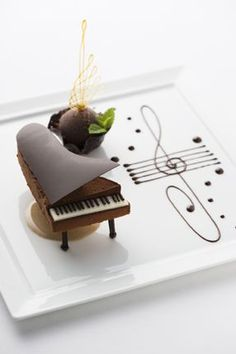 Chocolate Dessert Piano at the Palace Hotel Tokyo, Japan.. Amazing...perfect...