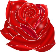 Rosa Rossa by @ilnanny, My Favorit flower, on @openclipart