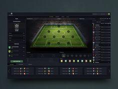 Fantasy soccer application concept