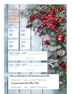 Exerciții de adunare a numerelor naturale de la 0 la 1000, cu trecere peste ordin interactive worksheet School Subjects, Your Teacher, Colorful Backgrounds, Christmas Wreaths, Activities, Crafts, Manualidades, Handmade Crafts, Craft