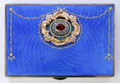 Faberge IMPERIAL RUSSIAN SILVER & GUILLOCHE CARD CASE with oval cut ruby jewel and round cut diamond.  work master Ivan Ekimovich Morozov.  Holds the mark of Karl Faberge