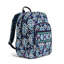 Campus Backpack in Clementine | Vera Bradley - handbags, popular, celine, pink, for school, prada purses *ad