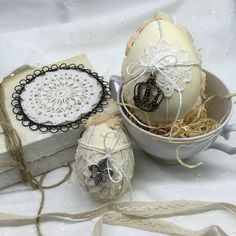 RURO / Sada veľkonočných vajíčok - Easter Eggs - patchwork, vintage style