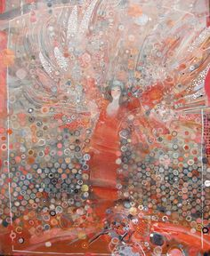 Buy Ristle , a Mixed Media on Paper by Yulia Luchkina from Russia. It portrays: Fantasy, relevant to: Девушка , Женщина , искусства , крылья , orange Ristle  Mixed media on paper  39*49cm  2013