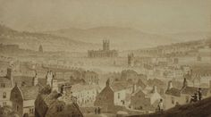 View of Bath from Beechen Cliff ca 1830