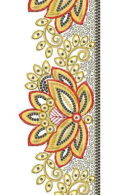 Pashtun Embroidery | Sequins Lace Border Brocade