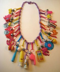 I was so obsessed with my charm necklace as a kid, never wanted to take it off.