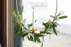 François Et Moi has instructions for elegant wreaths inspired by the Santa Lucia crowns of Sweden.